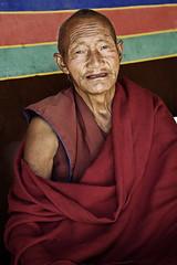 Tibetan monk (Matteo Melchior) Tags: china mountain temple buddha monk monaco tibet holy tibetan himalaya cina sacro preghiera