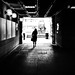 Going back home - Dublin, Ireland - Black and white street photography