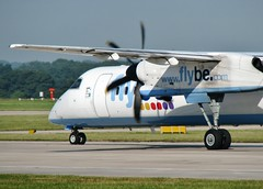 G-JECN (AnDrEwMHoLdEn) Tags: manchester airport manchesterairport dash8 egcc flybe 23l