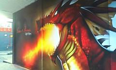 Welsh Fury (Frantastic.) Tags: urban wall wales painting graffiti dragon cymru cardiff gales caerdydd welsh 365 pintura 365days gals