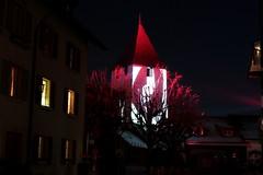 Hexenturm oder Roter Turm Murten ( Baujahr um 1238 - Turm Wehrturm tour fortifie torre tower ) der Stadtmauer - Ringmauer der Stadt Murten - Ville de Morat ( Altstadt Stdtchen Zhringerstadt city ) im Kanton Freiburg - Fribourg der Schweiz (chrchr_75) Tags: tower festival night schweiz switzerland licht torre tour suisse nacht swiss christoph fest svizzera turm nuit januar morat murten fortified 2016 suissa chrigu wehrturm lichtshow fortificata lichtfest chrchr fortifie hurni kantonfreiburg chrchr75 chriguhurni lichtspektakel kantonfribourg chriguhurnibluemailch albumstadtmurten stadtmurten albumwehrtrmekantonfreiburg hurni160124