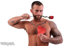 Valentine's Day with Nick Wagner 15 (Violentz) Tags: portrait hairy man male guy heart body muscle handsome bodybuilding fitness fury valentinesday physique tattooed patricklentzphotography nickwagner