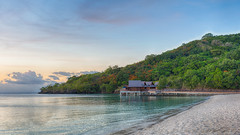Palau Pacific Resort (Warriorwriter) Tags: ocean sea beach water landscape scenery paradise day cloudy dusk palau pw bungalo oceania koror rockislands