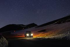 Travellers (Sebastiano Runci) Tags: road travel snow night canon stars landscape 50mm explorer travellers dreams neve exploration landrover discovery etna vulcano 6d longexposre
