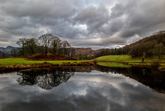 Distant Pikes (Fin Wright) Tags: trees england sky mountain lake mountains reflection tree water clouds canon reflections river ian lakedistrict f cumbria fells pike fin fell langdale elterwater brathay ianwright thelakedistrict langdalepikes elter riverbrathay finwright g1x finwrightphotographycouk