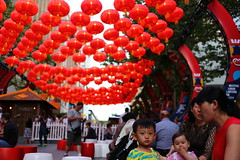 Martin Place Red Lanterns - Sydney Chinese New Year 2016 (neeravbhatt) Tags: new red place martin year chinese sydney lanterns 2016