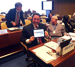 Dave Heindel, ITF seafarers' section chair, supports Heart Unions at the ILO MLC meeting in Geneva (nautilus.international) Tags: photo nautilus tuc competiton heartunions