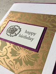 Classy and regal birthday letterpress (artnoose) Tags: birthday flower floral happy gold berkeley purple note card elegant letterpress greeting a2