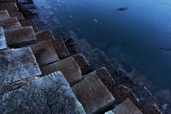The Blocks (C McCann) Tags: ocean longexposure blue winter sea canada motion cold water point outside aqua bc britishcolumbia victoria diagonal vancouverisland february pt ogden breakwater ogdenpoint briny