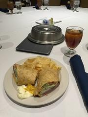 Lunch in Indy (sheriffdan10) Tags: water lunch tea beef wrap chips roastbeef