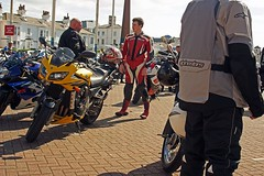 09/08/14   SOUTHPORT. Bikers By The Pier. (Lachlan Main) Tags: boots lancashire motorbikes southport bikers southportpier bikerboots