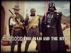 The Good, The Bad and The Sith (MiskatonicNick) Tags: startrek starwars cowboy good klingon 16 custom darthvader diorama clinteastwood hottoys sixthscale playscale redmantoys