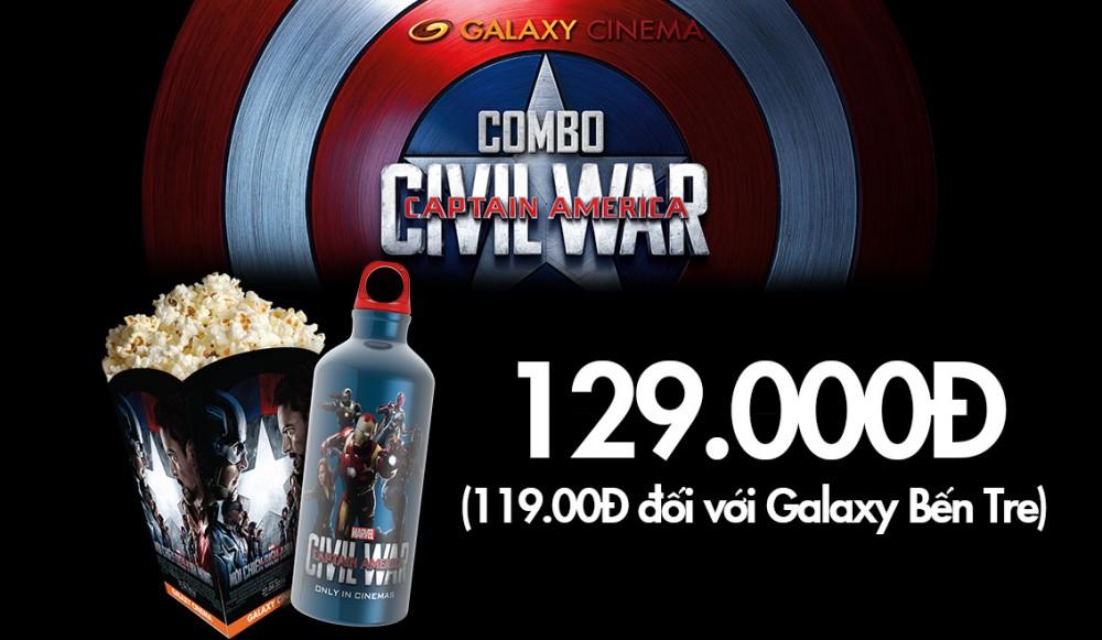 Combo Siêu Ngầu Chào Đại Chiến Captain America: Civil War