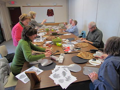 Tooling & Texturing on Metal - 2016 Program (Jamestown Audubon) Tags: art texture metal leaf pattern craft workshop program texturing 2016 tooling publicprogram