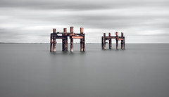 Lepe Dolphins (Langstone Joe) Tags: longexposure seascape coast rusty hampshire dday newforest worldwar2 lepe lepedolphins worldwar2structures