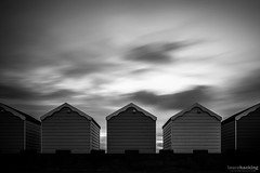 Five (laura.hacking) Tags: ocean uk longexposure travel sunset sea england sky blackandwhite holiday seascape building texture tourism beach water monochrome wales architecture vintage project mono coast pier seaside quiet waterfront northwest cloudy unitedkingdom britain outdoor horizon wide victorian atmosphere overcast wideangle landmark location structure symmetry lytham huts silence symmetrical coastline british seafront ultrawide beachhuts bnw stannes fineartphotography blackandwhitephotography waterscape appicoftheweek
