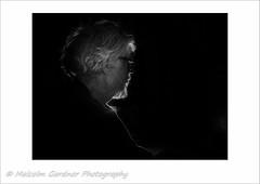 Joe With rim light (M Gardner Photography) Tags: portrait lowkey rimlight metzflash blackbackgroundwhiteborder