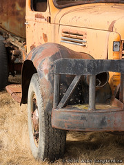 Scooped Fender (Alan Langford) Tags: truck rust industrial machine oilfield
