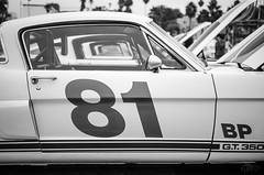 Mustang (vapi photographie) Tags: show california santa white black ford car la los noir angeles monica mustang blanc rasso