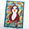 Brown Birdie (JoMo (peaceofpi)) Tags: canada bird animal sewing character fabric quilting patchwork textileart artquilt rawedge peaceofpi