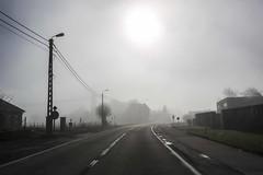 Mist in the West Flanders of Belgium (A.C. Photography & Cinematography) Tags: street morning friends summer sun mist nature fog town day belgium hiking walk sunday belgi visibility westflanders spierehelkijn