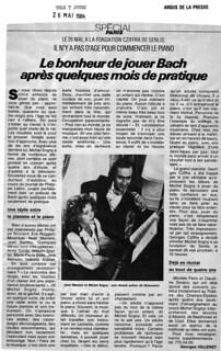 MICHEL SOGNY PRESSE TELE 7 JOURS 1984
