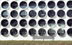 Holes (Arne Kuilman) Tags: street netherlands amsterdam bench iso200 nikon superia nederland bank tokina bankje nikonfe2 s200 fe2 3570mm