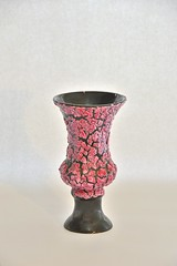 snakeskin vase pink vallauris luc (dekker@dekker) Tags: lava ceramics fat vase snakeskin vaas keramiek vallauris retropottery