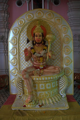 Hanuman  - The monkey god (VinayakH) Tags: india religious temple delhi hindu hinduism chattarpur katyayani