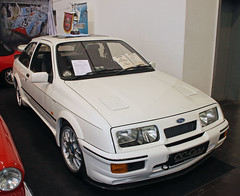 Sierra Cosworth (The Rubberbandman) Tags: auto old uk england white english classic ford car sedan vintage germany essen britain rally great sierra german techno vehicle british saloon rs coupe coup rallye fahrzeug cosworth classica rs500