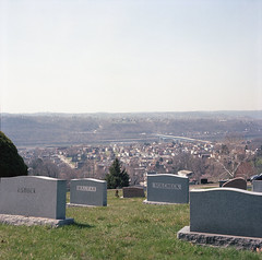 (Josh Sinn) Tags: color 120 film cemetery graveyard kodak pennsylvania pa portra braddock mamiyac330 160 mediumfformat joshsinn