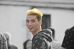 He could not believe that I was taking photos of him .... (johey24) Tags: life china street people raw shanghai candid air smiles hairstyles everydaylife beautifulpeople ordinarypeople yellowhair ordinarypeoplearebeautiful