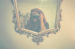 With Camera (H o l l y.) Tags: camera portrait film girl analog self 35mm vintage mirror lomography pentax kodak retro indie expired