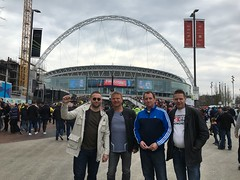 At Wembley for the Football league final 2016 between Oxford United vs Barnsley.