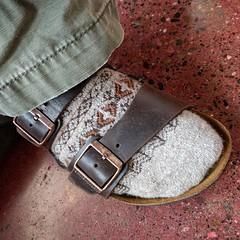 "My husband is that guy ... ""#sockswithsandals guy"". Google ""Pemco Insurance Socks w/ Sandals Guy"". #birkenstock #sandals w/ #wool #socks (Heath & the B.L.T. boys) Tags: socks shoes thomas instagram"