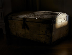 Old wooden trunk (giovannipiccioli) Tags: wood old light shadow sun texture contrast dark wooden high furniture antique object traditional surface medieval tuscany definition chianti trunk hd farmer trade antiquariato antico caravaggio bump legno mistery baule toscano contadino