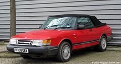 Saab 900 cabriolet 1992 (RHD) (XBXG) Tags: auto old holland classic haarlem netherlands car vintage drive automobile hand sweden nederland convertible swedish right voiture 1992 sverige saab cabrio paysbas 900 saab900 ancienne cabriolet zweden rhd sude zweeds sudoise k308gew