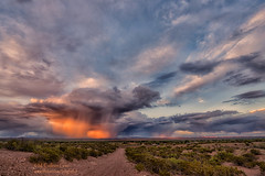 Sunset Storms (inlightful) Tags: sunset sky storm clouds sunrise evening cloudy cumulus thunderstorm thunder thunderhead virga