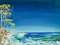 Justin Gaffrey SS40X30-2016-083 (Justin Gaffrey) Tags: blue lake green art nature night painting landscape cool noir florida dune coastal moonlight acrylicpaint 30a lakescape sowal justingaffrey