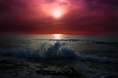God's Creation (Lior. L) Tags: light sunset sea sky nature god wave creation godscreation