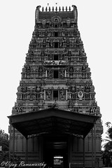 Marundeeswarar Temple Gopuram(Gateway Tower) (Vijay Ram) Tags: blackandwhite building tower monochrome architecture ancient god outdoor culture lord temples shiva hindu chennai tamil deity southindia nadu gopuram thiruvanmiyur valmiki marundeeswarar chennaiweekendclickers