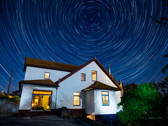 """House of Stars"" (josaraujo) Tags: longexposure nightphotography blue house color night stars trails olympus startrails polaris em1 esolympus mzuiko1240f28 livecomposite"