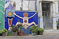Birth In The Mission ... (sswj) Tags: sanfrancisco california streetart northerncalifornia composition nikon mural availablelight birth streetphotography naturallight existinglight latino missiondistrict fullframe dslr scottjohnson balmyalley d600 ethnicart nikkor28300mm