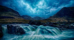 The Glen (baldridge1271) Tags: longexposure mountain water grass clouds landscape scotland waterfall rocks