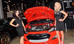 Hyundai (Chad Horwedel) Tags: woman illinois model rosemont hyundai worldofwheels wow2016