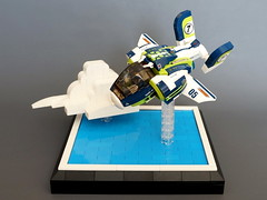 Agile Hawk 2.0 (Sylon-tw) Tags: anime water clouds plane lego hawk air scifi moc agile rongyiren sylon sylontw
