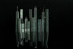 Staple City ( Jamie Mitchell) Tags: life lighting city light sky black reflection skyline architecture backlight night skyscraper buildings dark studio stars still staples staple