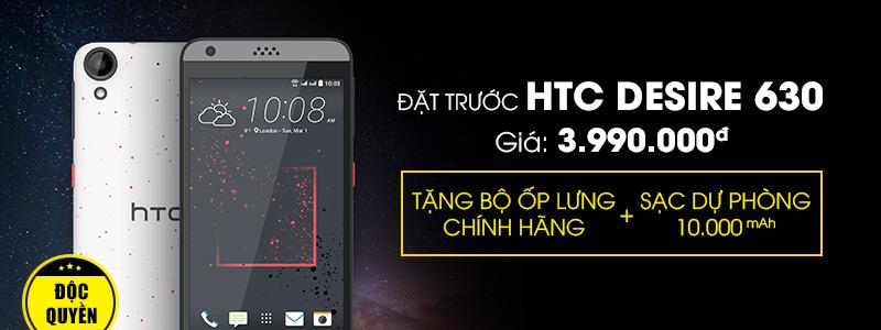 Độc quyền tại THẾ GIỚI DI ĐỘNG - Đặt trước HTC DESIRE 630 giá chỉ 3.990.000đ, nhận ngay quà tặng hấp dẫn