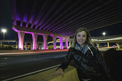 IMG_2353 (CassinStacy) Tags: street new city light people urban night mexico evening highway bokeh albuquerque freeway fe sante