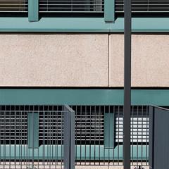 Rectangles, verticals and horizontals (zeh.hah.es.) Tags: green window lines vertical horizontal grey schweiz switzerland beige fenster zurich gray grau grn zrich rectangle faade fassade linien orthogonal rechteck rechtwinklig vertikale horizontale